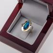 Zlatý oválný prsten s opálem