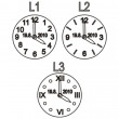 Přívěsek ve tvaru křtících hodinek