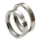Snubní prsteny z chirurgické oceli se zirkonem 04.R4-06
