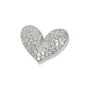 Stříbrný přívěsek srdce AGH28