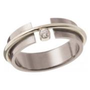 Zásnubní prsten ocel -  bílé zlato 05.B726876