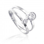 Zlatý prsten se dvěma zirkony 010.00127