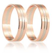 Snubní prsteny - kombinace zlata 04.B254