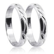 Stříbrné snubní prsteny P4R12