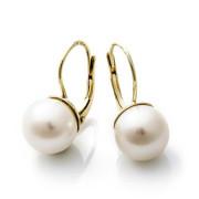Zlaté náušnice s přírodními perlami 740.00005