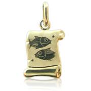 Zlatý přívěsek znamení Ryby žluté zlato pergamen 000.00064