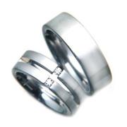 Ocelové snubní prsteny 04.0S5