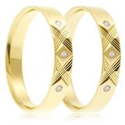 Snubní prsteny - žluté zlato 04.B749