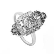 Stříbrný filigránový prsten se zirkony 010.00256