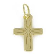 Zlatý přívěsek křížek ze žlutého zlata PA0073