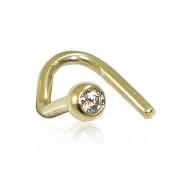 Zlatá nosnice piercing do nosu s kamínkem E10.00001