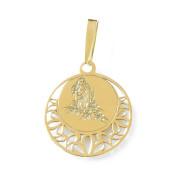 Zlatý přívěsek znamení Panna kolečko 000.00116