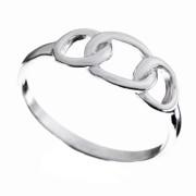 Stříbrný prsten tři spojené kroužky 000.00165