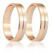 Snubní prsteny - kombinace zlata 04.B255