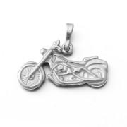 Stříbrný přívěsek motorka 000.00051