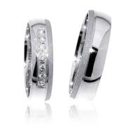 Snubní prsteny z bílého zlata 04.G0316