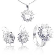 Luxusní souprava šperků z bílého zlata 010.00002