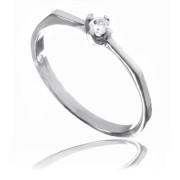 Zlatý jemný prsten se zirkonem 010.00078