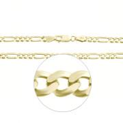 Zlatý masivní řetízek figaro 3+1 000.00047