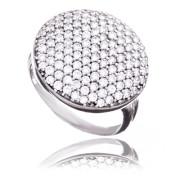 Luxusní prsten z bílého zlata se zirkony 010.00129