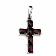Stříbrný přívěsek křížek české granáty 970.00012