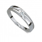 Zlatý prsten se zirkonem 010.1660