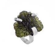 Stříbrný prsten s vltavínem 860.00024