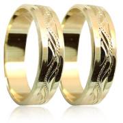 Snubní prsteny ze žlutého zlata 04.S37R