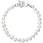 Stříbrný náramek s pravými říčními perlami 23006.1