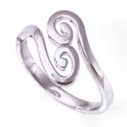Stříbrný prsten spirálky 000.00216