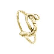 Prsten ze žlutého zlata had 000.00080