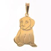 Zlatý přívěsek pes PA0446