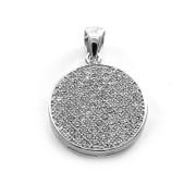 Stříbrný přívěsek kolečko osázené bílými kameny 12.010.00060