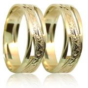 Snubní prsteny ze žlutého zlata 04.A6