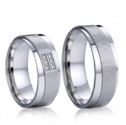 Ocelové snubní prsteny Karel a Lori 04.028