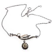Stříbrný náhrdelník s kamejí a markazity 1CMS9593
