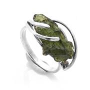 Stříbrný prsten s vltavínem 860.00022
