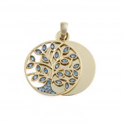 Zlatý přívěsek strom života s kamínky BLUETREEGRAV