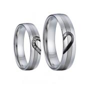Ocelové snubní prsteny 041