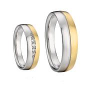 Ocelové snubní prsteny Alejandro a Elena 042
