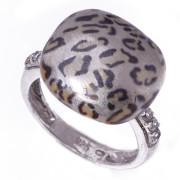 Stříbrný prsten smalt se zvířecím vzorem 170.00114