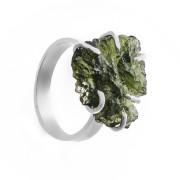 Stříbrný prsten s vltavínem 860.00023