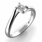 Prsten z bílého zlata s diamantem Gems Edita 990.386-0395