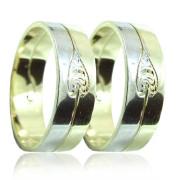 Zlaté snubní prsteny 04.B55