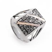 Prsten z portugalského stříbra s markazity AS-ISAN507
