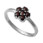 Stříbrný prsten s českými granáty 970.00004