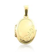 Zlatý přívěsek medailonek oválek s rytinkou 000.00046