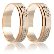 Snubní prsteny - kombinace zlata 04.b250