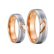 Ocelové snubní prsteny Darcy a Elizabeth