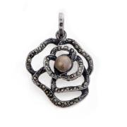 Přívěsek růže portugalské stříbro MFISCL626